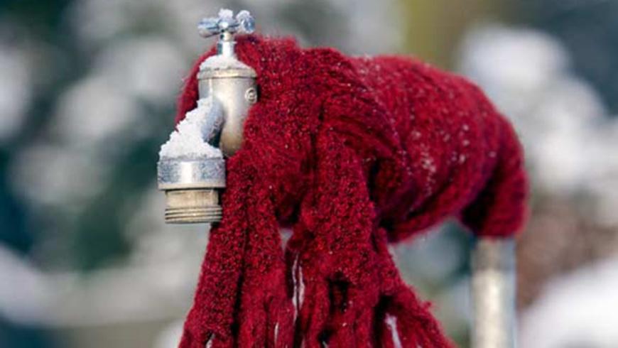 Frostschutz: Wasserleitungen entleeren!