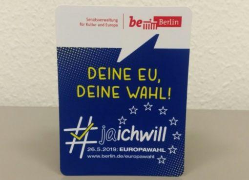 Pocketflyer zur Europawahl