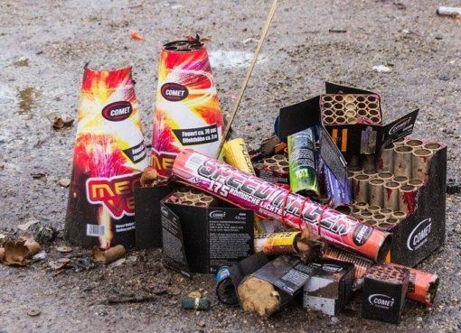 Pyrotechnik Abfall