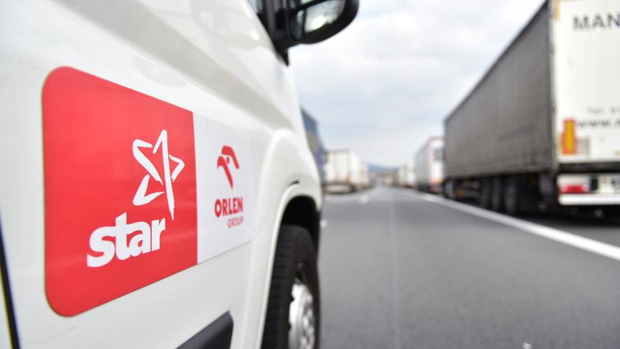 Lieferwagen von ORLEN star