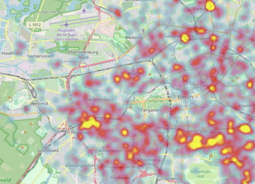 Karte der Fahrrad-Diebstähle